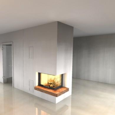 Kamin konstruieren, Ofenkeramik Velten, Feuerstätte Haus